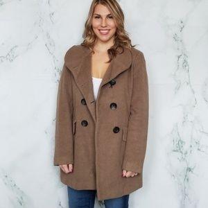 Calvin Klein Light Brown Pea Coat
